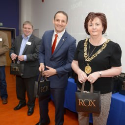 L-R: Murray Husband, Tommy Mitchell, David Grevenberg, Rt Hon Lord Provost of Glasgow Sadie Docherty