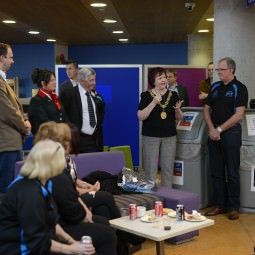 The Right Honourable Lord Provost of Glasgow, Sadie Docherty, says a few words at the NVT Players Post-Games Graduation BashThe Right Honourable Lord Provost of Glasgow, Sadie Docherty, says a few words at the NVT Players Post-Games Graduation Bash