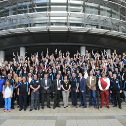 NVT Players group photograph outside Strathclyde University - September 2014