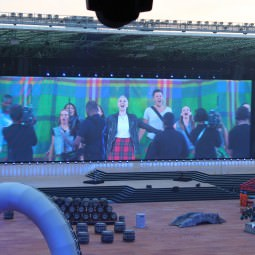 Glasgow 2014 Commonwealth Games Opening Ceremony Big Screen with Karen Dunbar