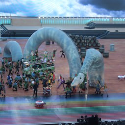 Glasgow 2014 Commonwealth Games Opening Ceremony with Nessie on stage