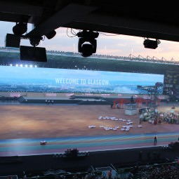 Glasgow 2014 Commonwealth Games Opening Ceremony 'Welcome To Glasgow' big screen