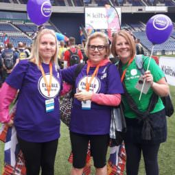 Irene Simmons, PA to Directors, and friends took part in the Kiltwalk in September 2016, in aid of ENABLE Scotland