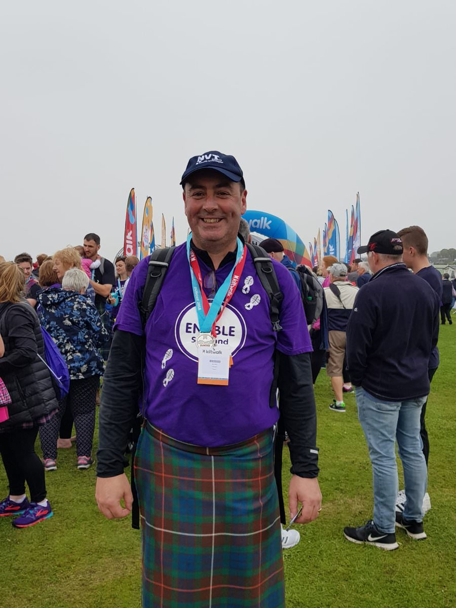 Hamish Fraser Kiltwalk - end