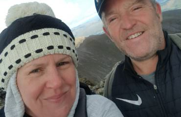 Irene and Alan at the summit of Ben Nevis - September 2020